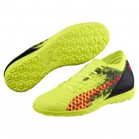 P0491 รองเท้าฟุตบอล 100ปุ่ม สนามหญ้าเทียม PUMA FUTURE 18.4 TT-Yellow/Red/Black