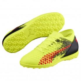 P0492 รองเท้าฟุตบอลเด็ก 100ปุ่ม สนามหญ้าเทียม PUMA FUTURE 18.4 TT Jr.-Yellow/Red/Black
