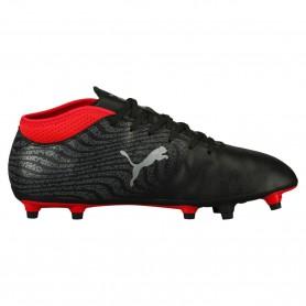 P0493 รองเท้าฟุตบอล รองเท้าสตั๊ด PUMA ONE 17.4 FG -Black/Silver/Red