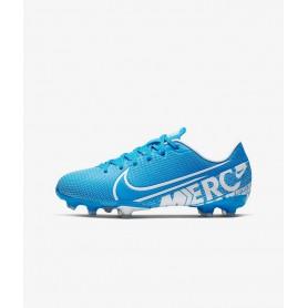 N4130 รองเท้าสตั๊ดเด็ก รองเท้าฟุตบอลเด็ก Nike Jr. Mercurial Vapor 13 Academy MG-Blue Hero/Obsidian/White