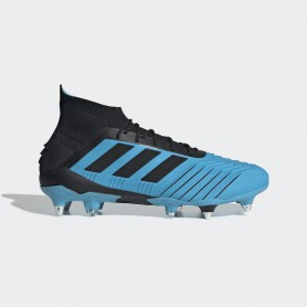 A4158 รองเท้าฟุตบอล รองเท้าสตั๊ด ADIDAS Predator 19.1 SG- Bright Cyan / Core Black / Solar Yellow