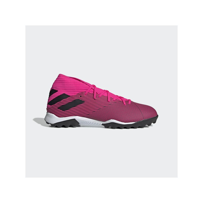 A4168 รองเท้าฟุตบอล 100 ปุ่ม สนามหญ้าเทียม ADIDAS Nemeziz 19.3 TF-Shock Pink/Core Black/Shock Pink