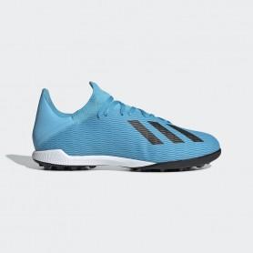 A4178 รองเท้าฟุตบอล 100ปุ่ม สนามหญ้าเทียม ADIDAS X 19.1 TF -Bright Cyan/Core Black/Shock Pink