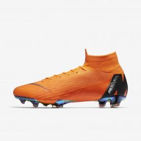 N0517 รองเท้าสตั๊ด รองเท้าฟุตบอล Nike Mercurial Superfly 360 Elite FG -TOTAL ORANGE/BLACK