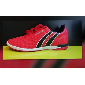 PA4185 รองเท้าฟุตซอล Pan VIGOR 8 MICROFIBER- สีแดง (ตัวทอป)