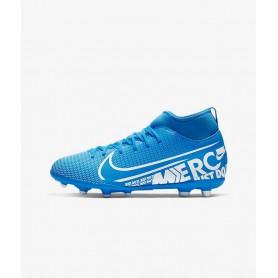 N4194 รองเท้าสตั๊ดเด็ก รองเท้าฟุตบอลเด็ก Nike Jr. Mercurial Superfly 7 Club MG-Blue Hero/Obsidian/White