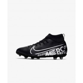 N4196 รองเท้าสตั๊ดเด็ก รองเท้าฟุตบอลเด็ก Nike Jr. Mercurial Superfly 7 Club MG-Black/Cool Grey/Metallic Cool Grey