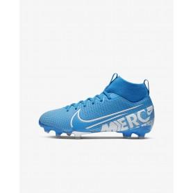 N4203 รองเท้าสตั๊ดเด็ก รองเท้าฟุตบอลเด็ก Nike Jr. Mercurial Superfly 7 Academy MG-Blue Hero/Obsidian/White