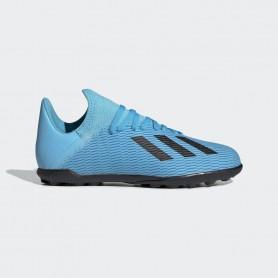 A4208 รองเท้าฟุตบอล100 ปุ่มเด็ก สนามหญ้าเทียม ADIDAS X 19.3 JR. TF-Bright Cyan/Core Black/Shock Pink
