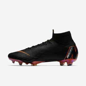 N0523 รองเท้าสตั๊ด รองเท้าฟุตบอล Nike Mercurial Superfly 360 Elite FG -Black
