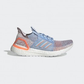 A4299 รองเท้าวิ่ง ผู้หญิง adidas Ultraboost 19-Glow Blue/Hi-Res Coral/Active Maroon