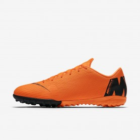 N0521 รองเท้าฟุตบอล 100ปุ่ม สนามหญ้าเทียม NIKE MERCURIALX VAPOR XII ACADEMY TF - Total Orange/Black