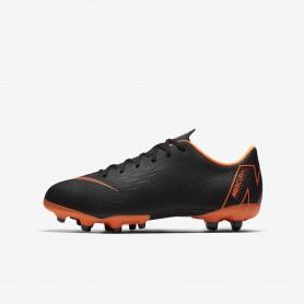 N0530 รองเท้าสตั๊ดเด็ก รองเท้าฟุตบอลเด็ก Nike Jr. Mercurial Vapor XII Academy MG - Black/Orange