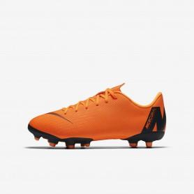 N0531 รองเท้าสตั๊ดเด็ก รองเท้าฟุตบอลเด็ก Nike Jr. Mercurial Vapor XII Academy MG - Orange/Black