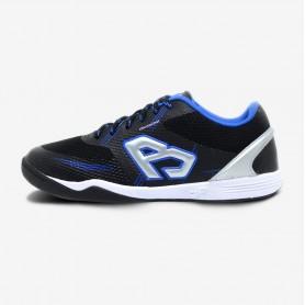 B4370 รองเท้าฟุตซอล Breaker King Knit / สีดำ-น้ำเงิน