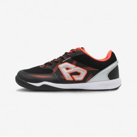 B4371 รองเท้าฟุตซอล Breaker King Knit / สีดำ-ส้ม