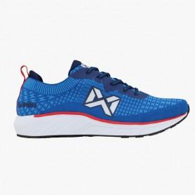 W4386 รองเท้าวิ่ง Warrix MACH- สีฟ้า/แดง