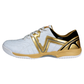 W0546 รองเท้าฟุตซอล Warix Maximum Speedy - สีขาว/ทอง