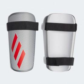 A4482 สนับแข้ง Adidas X Lite Shin Guard- Silver Metallic/Hi-Res Red/White
