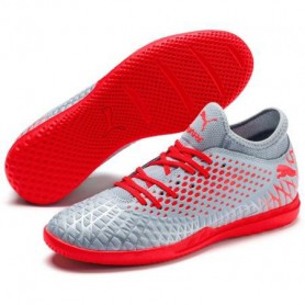 P4530 รองเท้าฟุตซอล PUMA FUTURE 19.4 IT -Glacial Blue/Energy Red/High Risk Red