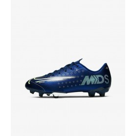 N4536 Football Boot Nike Jr. Mercurial Vapor 13 Academy MDS MG-Blue Void/White/Black/Metallic Silver