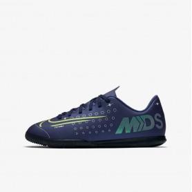 N4552 รองเท้าฟุตซอลเด็ก Nike Jr. Mercurial Vapor 13 Club MDS IC-Blue Void/White/Black/Metallic Silver