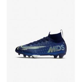 N4553 รองเท้าสตั๊ดเด็ก รองเท้าฟุตบอลเด็ก Nike Jr. Mercurial Superfly 7 Elite MDS FG-Blue Void/White/Black/Metallic Silver