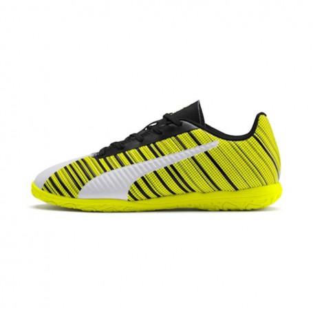 mudo localizar Ambos  P4560 Futsal Boots Puma ONE 5.4 IT Jr-Puma White/Black/Yellow Alert