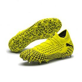 P4562 รองเท้าฟุตบอล รองเท้าสตั๊ด PUMA FUTURE 4.1 NETFIT FG/AG-Yellow Alert/Puma Black