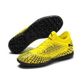 P4564 รองเท้าฟุตบอล 100ปุ่ม สนามหญ้าเทียม PUMA FUTURE 4.4 TT-Yellow Alert/Puma Black