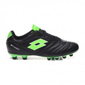 L4594 Football Boots LOTTO STADIO 300 II FG-ALL BLACK/SPRING GREEN