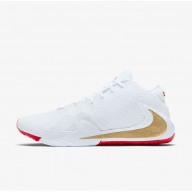 N4599 Basketball Shoe Nike Zoom Freak 1-White/University Red/Metallic Gold