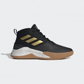 A4603 รองเท้าบาสเกตบอล adidas OWNTHEGAME-Core Black/Matte Gold/Cloud White