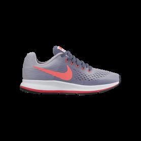 N0590 รองเท้าวิ่งเด็กหญิง Nike Nike Zoom Pegasus 34 GS-PROVENCE PURPLE / SOLAR RED