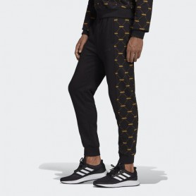 A4687 adidas Linear Graphic Track Pants-Black/Active Gold