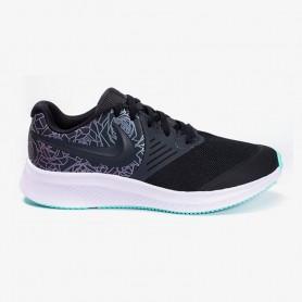 N4760 Kids Running Shoes Nike Star Runner 2 Rebel-Anthracite/Black/White/Light Aqua