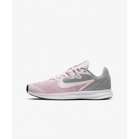 N4761 Kids Running Shoes Nike Downshifter 9-Pink Foam/Metallic Silver/Pure Platinum/White