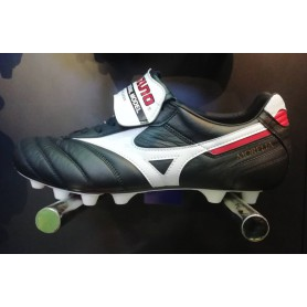 M4795 Football Boots MIZUNO MORELIA II JAPAN - BLACK/WHITE/CHINESERED