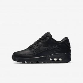 N0601รองเท้า Sneakers เด็ก Nike Air Max 90 Leather -Black