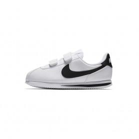 N0605 รองเท้า Sneakers เด็กเล็ก Nike Basic Cortez SL (PS)-WHITE/BLACK