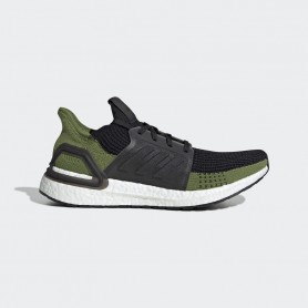 A4858 Men Running adidas Ultraboost 19-Core Black/Core Black/Tech Olive