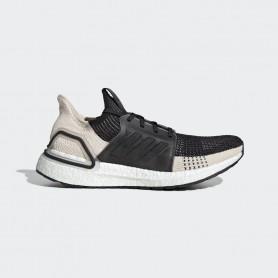 A4859 Men Running adidas Ultraboost 19-Core Black/Linen/Crystal White