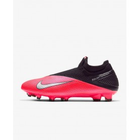 N4864 Football Boot Nike Phantom Vision 2 Elite Dynamic Fit FG-Laser Crimson/Black/Metallic Silver
