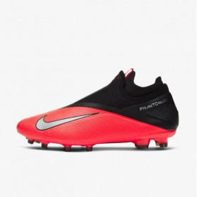 N4865 Football Boot Nike Phantom Vision 2  Pro Dynamic Fit FG-Laser Crimson/Black/Metallic Silver