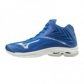 M4886 Unisex Volleyball Mizuno Wave Lightning Z6 Mid-Blue/White