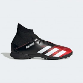 A4918 Kids Football ADIDAS Predator 20.3 Turf -Core Black/Cloud White/Active Red