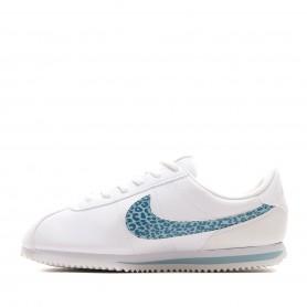 N0618 รองเท้า Sneakers เด็ก Nike Cortez Basic SL GS-WHITE/OCEAN BLISS/AQUA