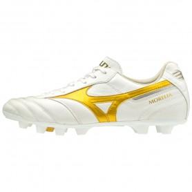 M4959 รองเท้าสตั๊ด รองเท้าฟุตบอล MIZUNO MORELIA II ELITE- WHITE/GOLD