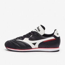 M4962 รองเท้าแฟชั่น Sneakers Mizuno  Morelia 1985 Made In Japan-Black/White/Chinese Red