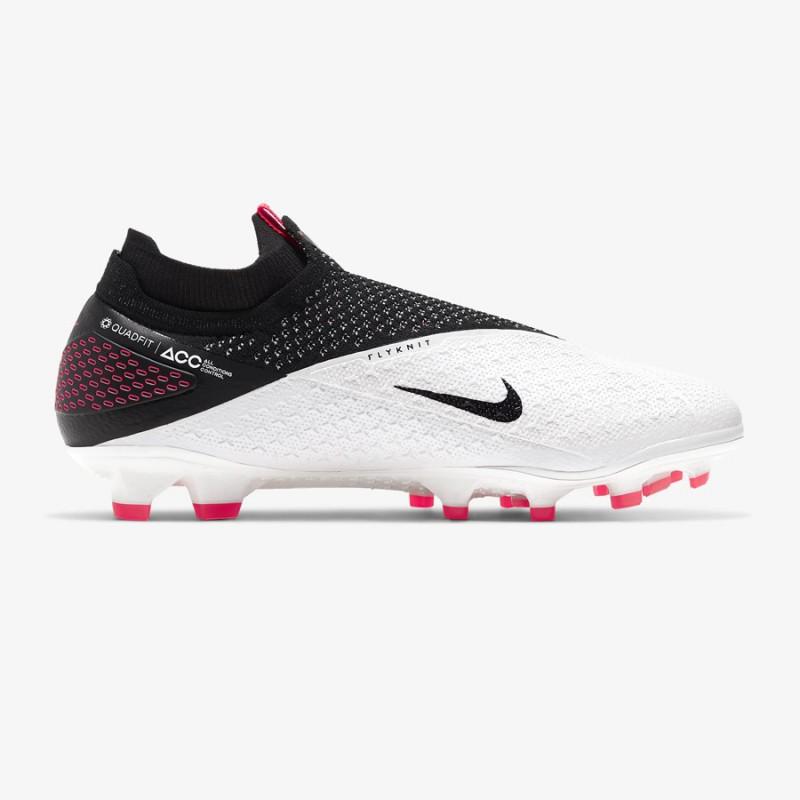 N5070 รองเท้าสตั๊ด รองเท้าฟุตบอล Nike Phantom Vision 2 Elite Dynamic Fit FG-White/Laser Crimson/Black
